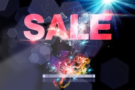 emanate: Sale 3D Stock Photo