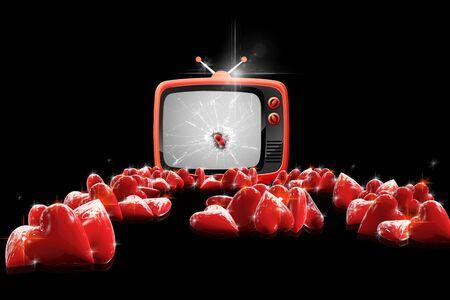 spiffy: Heart TV Stock Photo