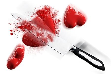 Cut heart 3D Stock Photo