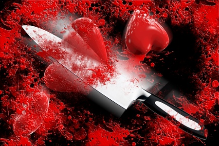 Cut heart 3D Stock Photo - 17559440