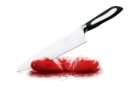spiffy: Slash heart Stock Photo