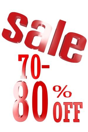 70-80 Percent Sale photo