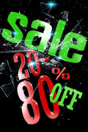 cleave: 20-80 Percent Sale Stock Photo