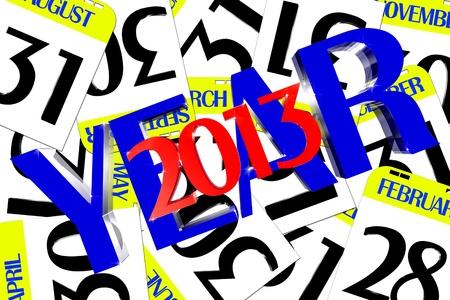 Year 2013 calendar small enclosed photo