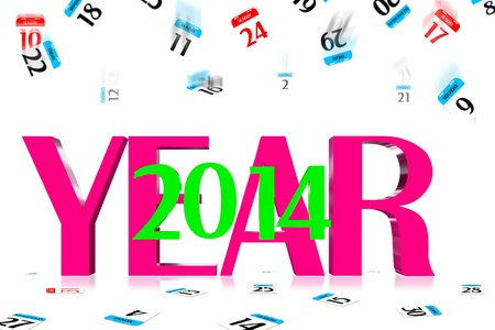 3D Year 2014 Calendar icon is dropped from the top photo