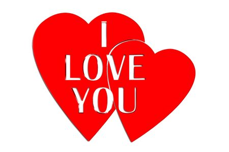 Heart with the words i love you in the middle