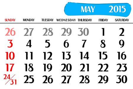 end month: Three dimensional calendar year 2015