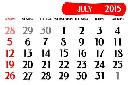 Three dimensional calendar year 2015 Stock Photo - 17800356