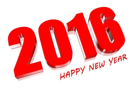 3D Happy new year 2016 photo