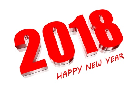 3D Happy new year 2018