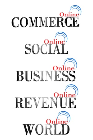 Included icon of an online business Stock Photo - 18128327