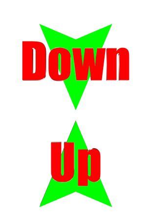 three dimensions: Arrow up down three dimensions