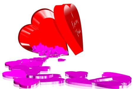 Input box love Stock Photo - 18195381