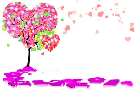 The tree of Love Stock Photo