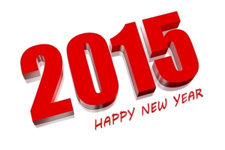 3D Frohes neues Jahr 2015 Lizenzfreie Bilder