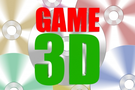3D Games on DVD Stock Photo - 18404170