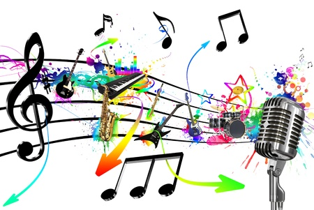 Mic auf den Klang des Instruments Lizenzfreie Bilder