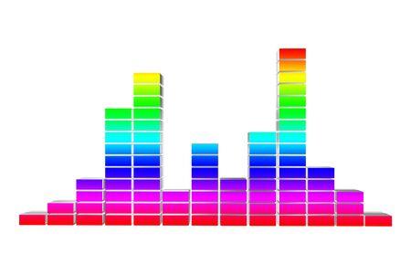 Graph three-dimensional volume photo