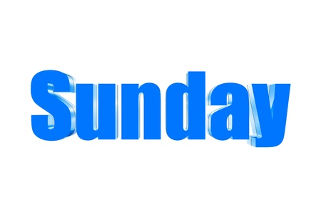 Three dimensions color blue Sunday