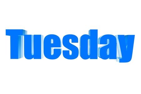 Three dimensions color blue Tuesday