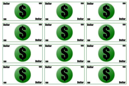 Three dimensions counterfeit money Stock Photo - 18658583