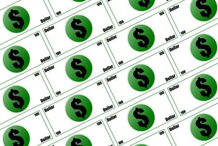 vals geld: Drie dimensies vals geld Stockfoto