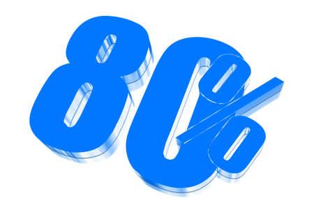 pernicious: 80 percent discount on three-dimensional Stock Photo