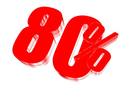 injurious: 80 percent discount on three-dimensional Stock Photo