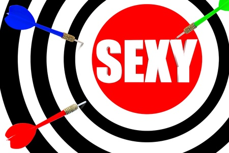 Three dimensional target with the word sexy in the middle Stock Photo - 18981583