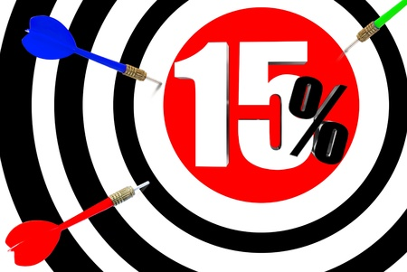 dissent: Next target  The increase in profits is 15 percent  Stock Photo