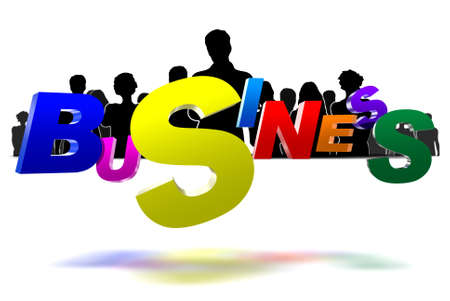 Business three-dimensional icon have people a black in the background photo