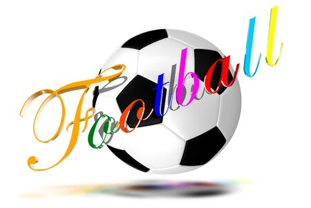 Football 3D colorful letters photo