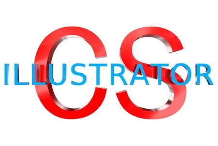 3D illustrator CS Stock Photo
