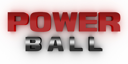 Power bell three-dimensional red and black.Clean white background Stock Photo