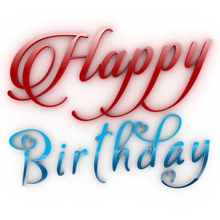 Happy Birthday, three-dimensional