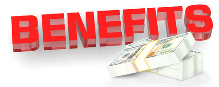 3D Benefits,red text,dollars,white background,