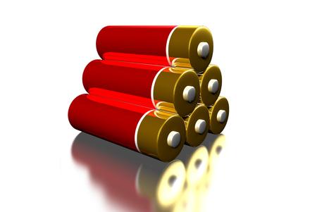 AA batteries energy 3D.