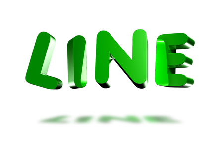 Line 3d white background. Stock Photo