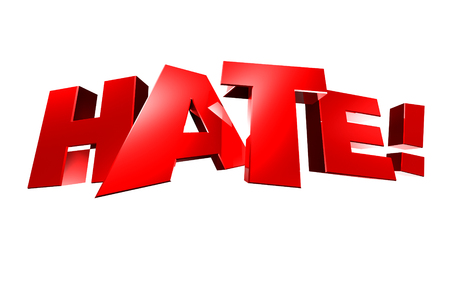 Hate 3d,hate! white background. Reklamní fotografie