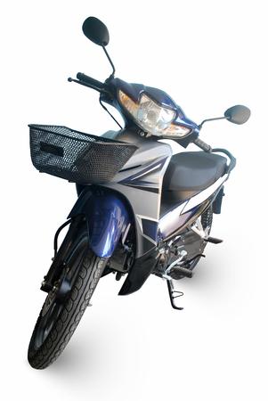 Blue motorcycle on white background. Reklamní fotografie