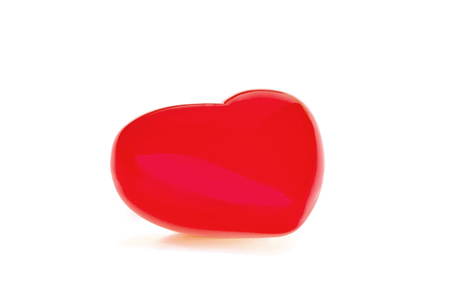 Red heart on white background.With Clipping Path.