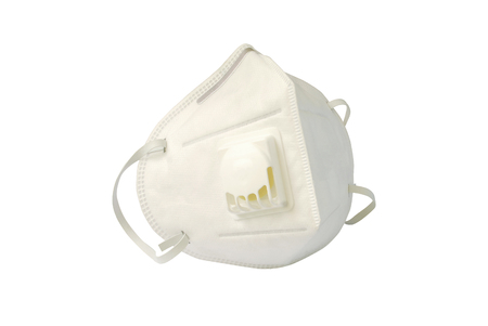 Dust mask size PM 2.5 on white background.(with Clipping Path). Stock fotó