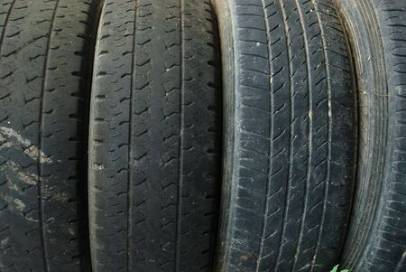 Old black rubber background without tread Standard-Bild - 133658729