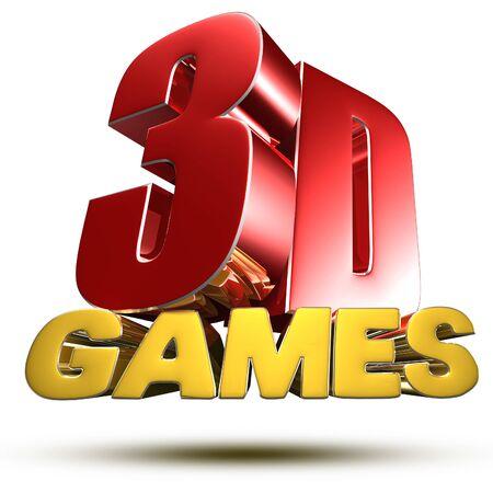 3D Games 3d illustration on white background. Stok Fotoğraf