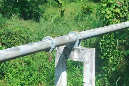 Provincial waterworks steel pipes of Thailand.