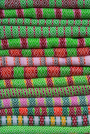 Colorful messaline pattern