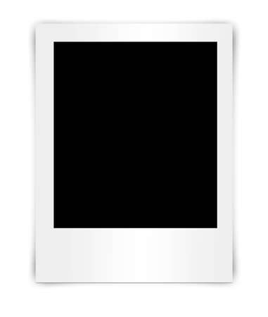 balnk photo frame isolated on white photo