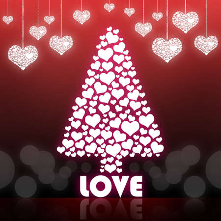 Love Valentine tree isolated