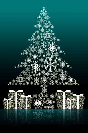 Christmas tree isolated background Stock Photo