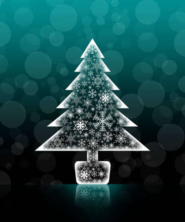 Christmas tree isolated background photo